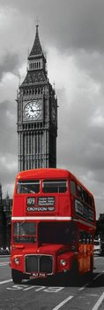 London Red Bus Poster, Art Print