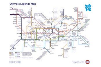 Poster London Underground Map - Olympic Games