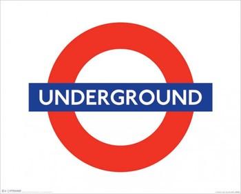 London - underground sign Poster