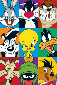 LOONEY TUNES - characters Poster