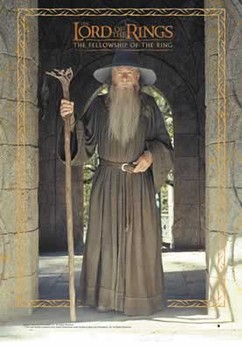 Pôster LORD OF THE RINGS - gandalf