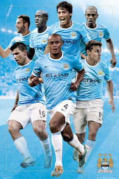 Manchester City - 13/14 playes Poster