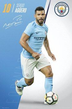 Manchester City - Aguero 17/18 Poster
