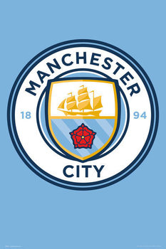 Poster Manchester City - Crest 15/16