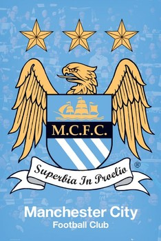 Manchester City - crest Poster