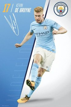 Manchester City - De Bruyne 17/18 Poster