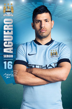 Manchester City FC - Aguero 14/15 Poster