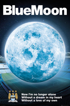 Manchester City FC - Blue Moon 14/15 Poster, Art Print
