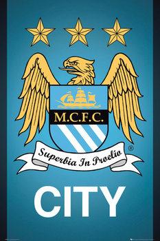 Manchester City FC - Crest 13/14 Poster