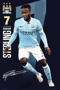 Manchester City FC - Sterling 15/16 Poster, Art Print
