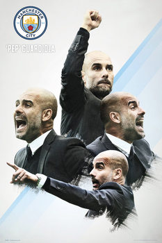 Poster Manchester City - Guardiola 16/17