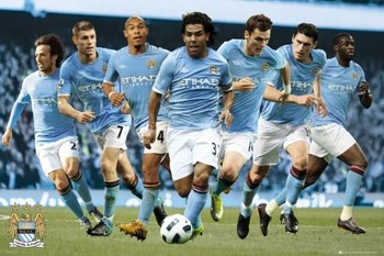 Manchester City - players 2010/2011 Poster
