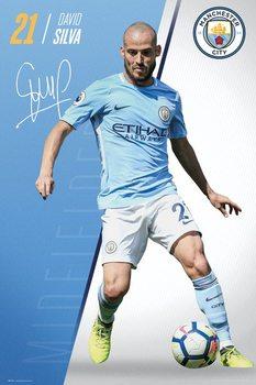 Manchester City - Silva 17-18 Poster