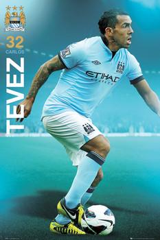 Manchester City - Tevez 12/13 Poster