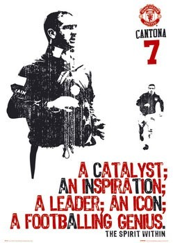 Manchester United - cantona catalyst Poster