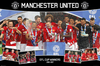 Manchester United - EFL Cup Winners 16/17 Poster