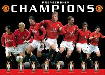 Manchester United - eight trophies Poster