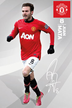 Pôster Manchester United FC - Mata 13/14
