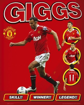 Manchester United - giggs Poster, Art Print