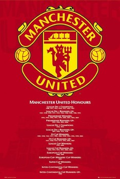 Manchester United - honours Poster