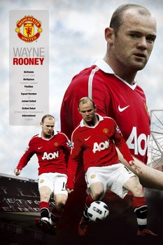 Manchester United - rooney 2010/2011 Poster