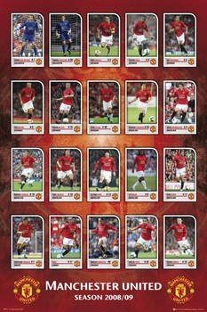 Manchester United - squad profiles 08/09 Poster
