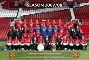 Manchester United - Team photo 07/08 Poster
