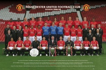 Manchester United - Team photo 08/09 Poster