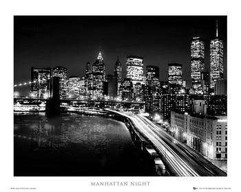 Manhattan - night Poster