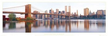 Manhattan - sunrise Poster