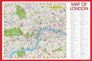 Poster Mapa do Metrô de Londres - preta