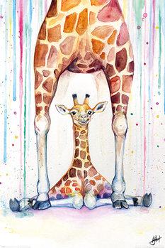 Marc Allante - Gorgeous Giraffes Poster