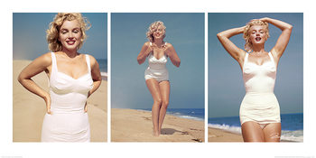 Marilyn Monroe - Beach Triptych Art Print