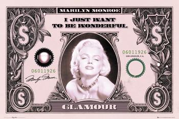 MARILYN MONROE - dollar bill Poster