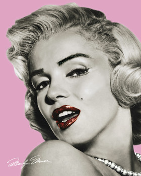 MARILYN MONROE - pink Poster