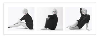 Marilyn Monroe - Sweater Triptych Art Print