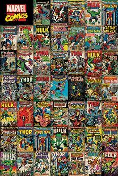 Marvel Avengers Covers Poster, Art Print
