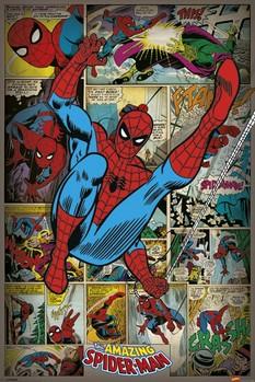 Pôster MARVEL COMICS - spider man ret
