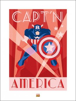 Marvel Deco - Captain America Art Print