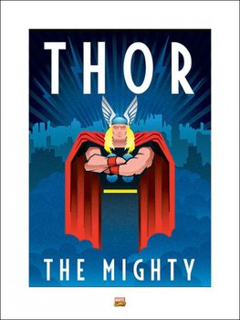 Marvel Deco - Thor Art Print