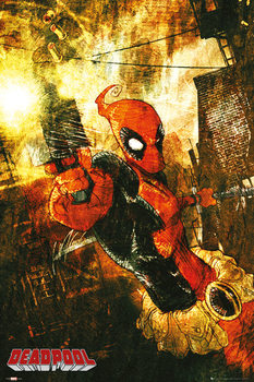 Poster MARVEL EXTREME - deadpool gun