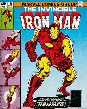MARVEL - iron man cover Poster