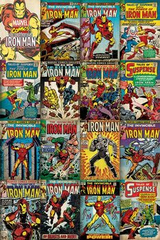 Marvel Iron Man Covers Poster, Art Print