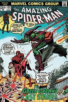 MARVEL RETRO - spider-man vs. green goblin Poster, Art Print