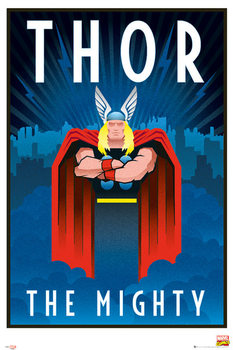 Marvel - Retro Thor Poster