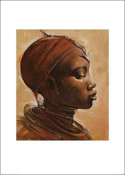Masai woman I. Art Print