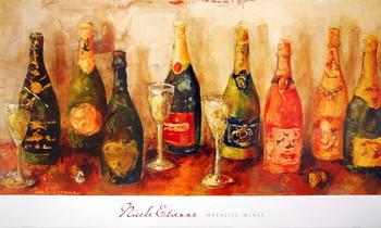 Metallic Wines Art Print