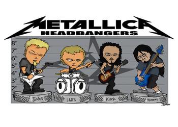 Poster Metallica - headbangers