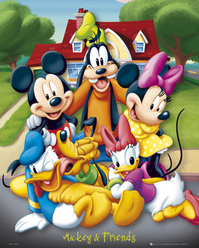 MICKEY MOUSE - and friends Poster, Art Print