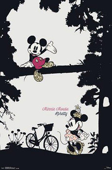 Mickey Mouse and Minnie Mouse - Pretty Poster, Art Print